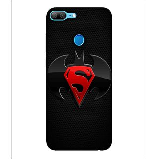 For Huawei Honor 9 Lite Cartoon, Black, Super Hero Pattern,  Printed Designer Back Case Cover By Human Enterprise