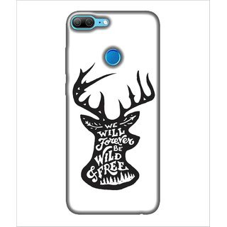 For Huawei Honor 9 Lite We will forever be wild & free, White, Crown, Hot pattern,  Printed Designer Back Case Cover By Human Enterprise