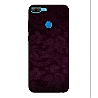 For Huawei Honor 9 Lite Flower, Blue, Designer Flower, Beautiful Pattern,  Printed Designer Back Case Cover By Human Enterprise