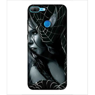 For Huawei Honor 9 Lite Spider, Black, Mask, Comics character, Beautiful women,  Printed Designer Back Case Cover By Human Enterprise