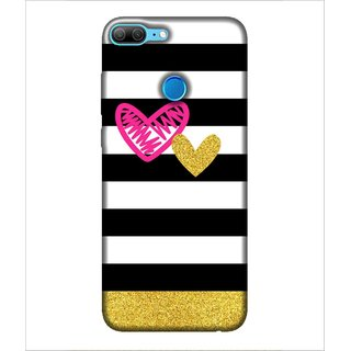 For Huawei Honor 9 Lite Heart, Pink, Zig Jag Heart, Beautiful Pattern,  Printed Designer Back Case Cover By Human Enterprise