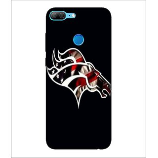 For Huawei Honor 9 Lite Crown, Black, Love Pattern, Great pattern,  Printed Designer Back Case Cover By Human Enterprise