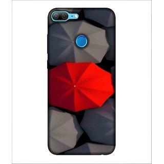 For Huawei Honor 9 Lite Umbrella, Black, umbrellas, colourful umbrella,  Printed Designer Back Case Cover By Human Enterprise