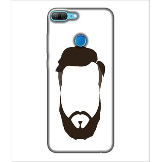 For Huawei Honor 9 Lite Man With Beared Look, Black, Nice hair Style, Amazing Pattern,  Printed Designer Back Case Cover By Human Enterprise