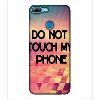 For Huawei Honor 9 Lite Do Not touch my phone, Multicolor, Cloud, Beautiful Pattern,  Printed Designer Back Case Cover By Human Enterprise