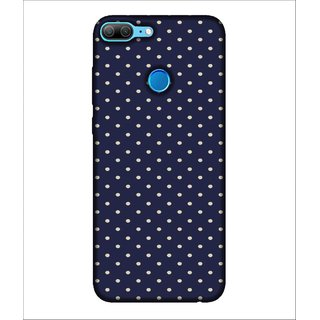 For Huawei Honor 9 Lite Dotted Pattern, Blue, Pattern With Dotes, Lovely pattern,  Printed Designer Back Case Cover By Human Enterprise