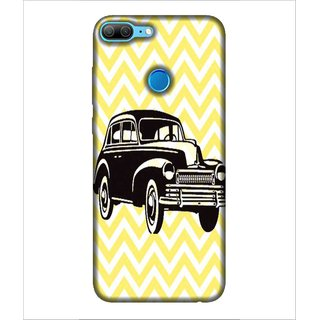 For Huawei Honor 9 Lite Car, Black,  Printed Designer Back Case Cover By Human Enterprise