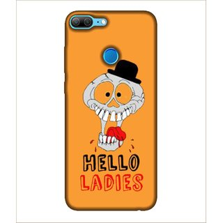For Huawei Honor 9 Lite skeleton, Orange, Hello Ladies, Beautiful Pattern,  Printed Designer Back Case Cover By Human Enterprise