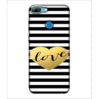 For Huawei Honor 9 Lite Love, Black, Romance pattern, Lovely pattern,  Printed Designer Back Case Cover By Human Enterprise