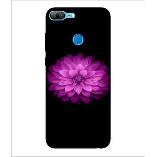 For Huawei Honor 9 Lite Rose, Black, Flower , Amazing Pattern,  Printed Designer Back Case Cover By Human Enterprise