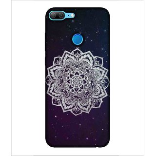 For Huawei Honor 9 Lite Rangoli Patterns, Black, great Pattern, Beautiful Pattern,  Printed Designer Back Case Cover By Human Enterprise