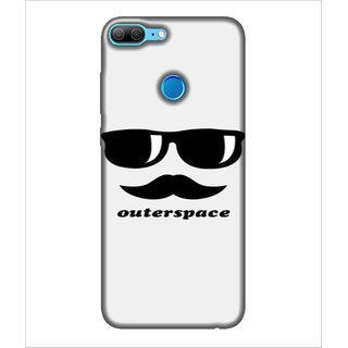 For Huawei Honor 9 Lite Outerspace, White, Mushtash, aviater,  Printed Designer Back Case Cover By Human Enterprise