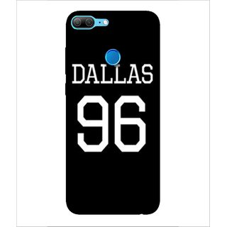 For Huawei Honor 9 Lite 96, Black, Dallas, Amazing Pattern,  Printed Designer Back Case Cover By Human Enterprise