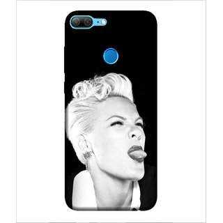 For Huawei Honor 9 Lite Teaseing Lady, Black, A Lady Showing Her Toung,  Printed Designer Back Case Cover By Human Enterprise