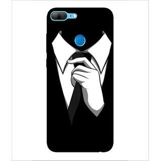 For Huawei Honor 9 Lite Tie, Black, Black Suit Man, Lovely pattern,  Printed Designer Back Case Cover By Human Enterprise
