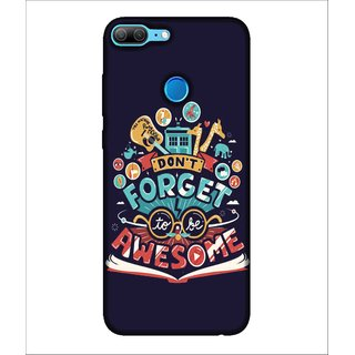 For Huawei Honor 9 Lite Don't forget to be awesome, Black, Guitar , Cartoons,  Printed Designer Back Case Cover By Human Enterprise