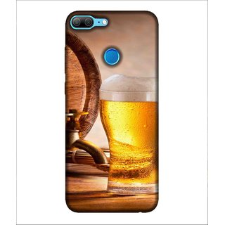 For Huawei Honor 9 Lite Cold Drink, Grey, Drink Patterns, Lovely pattern,  Printed Designer Back Case Cover By Human Enterprise