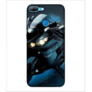For Huawei Honor 9 Lite Sports Bike, Black, Bike, Amazing Pattern,  Printed Designer Back Case Cover By Human Enterprise