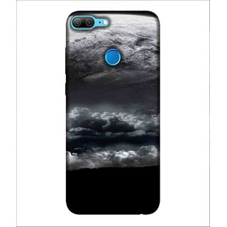 For Huawei Honor 9 Lite Cloud, Black, Amazing Pattern, Lovely pattern,  Printed Designer Back Case Cover By Human Enterprise