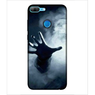 For Huawei Honor 9 Lite Cloud, Black, Lovely pattern, Dashing Pattern,  Printed Designer Back Case Cover By Human Enterprise