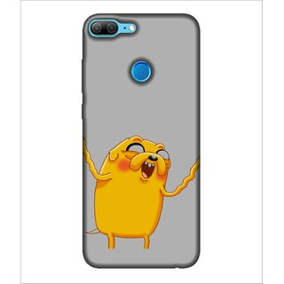 For Huawei Honor 9 Lite Cartoon, Grey, Cartoon and Animation,  Printed Designer Back Case Cover By Human Enterprise