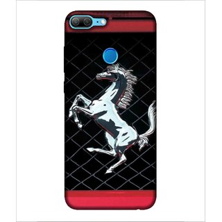 For Huawei Honor 9 Lite Horse, Black, Horse Pattern, Lovely pattern,  Printed Designer Back Case Cover By Human Enterprise