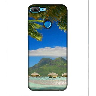 For Huawei Honor 9 Lite Beach, Blue, Mountain, Swimming Pool,  Printed Designer Back Case Cover By Human Enterprise