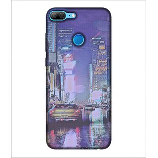 For Huawei Honor 9 Lite City roads, Multicolor, High Rise buildings, Cars,  Printed Designer Back Case Cover By Human Enterprise