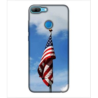 For Huawei Honor 9 Lite Cloud, Blue, Flag, Amazing Pattern,  Printed Designer Back Case Cover By Human Enterprise