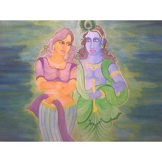radhakrishna modern painting
