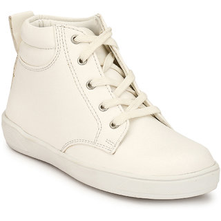 Hirels White Kids Sneaker Boots