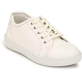 Hirels White Kids Sneakers