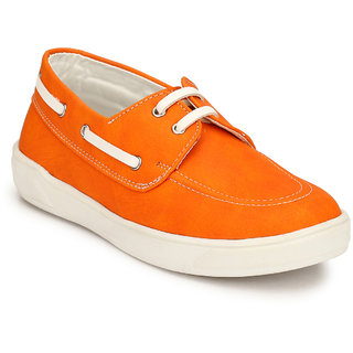 Hirels Orange Kids Derby Sneakers