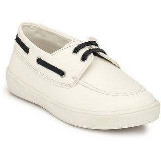 Hirels White Kids Derby Sneakers