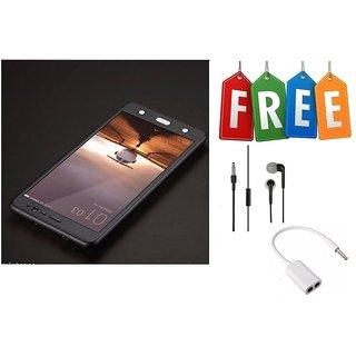 Vivo V3 360 Degree Cover With Tempered Glass + Earphone + Audio Splitter - Black  - Super Value Combo Offer