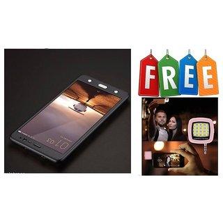 Vivo V3 Max 360 Degree Full Cover With Free Selfie Flash - Black  - Super Value Combo Offer
