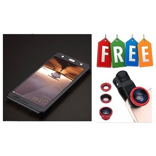 Samsung Galaxy S8 360 Degree Full Cover With Free Mobile Camera Lens - Black  - Super Value Combo Offer