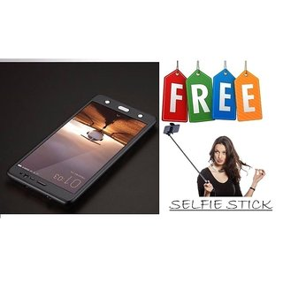 Vinnx 360 Degree Full Body Protection Front & Back Case Cover for OnePlus 3T With Tempered Glass With Free Selfie Stick - Black  - Super Value Combo Offer