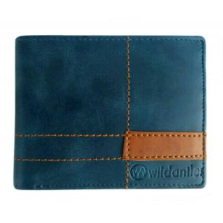 Wildantler Men Blue Genuine Leather Wallet