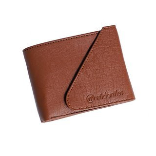 Wildantler Men Tan Artificial Leather Wallet (6 Card Slots)