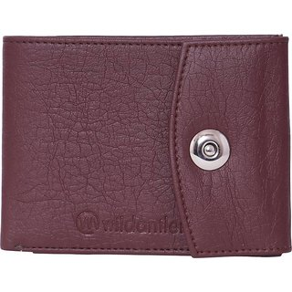 Wildantler Men Brown Artificial Leather Wallet (6 Card Slots)