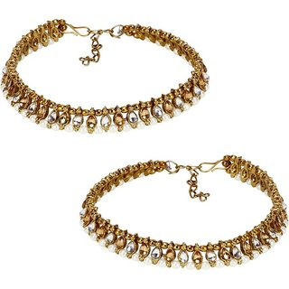 Jewels Gehna Alloy Latest Designer Anklet For Women  Girls