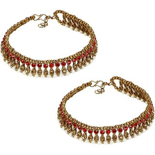 Jewels Gehna Alloy Party Wear Stylish Fancy Anklet For Women  Girls