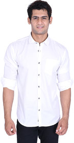 roller fashions White Casual Slim Fit Shirt