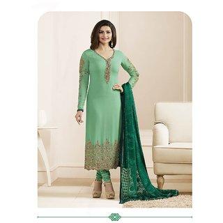 9b87ad0b07 Prachi Desai Designer Green Embroidered Salwar Suit With Designer Dupatta  (Unstitched)