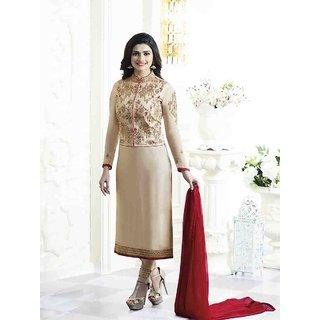 Buy Prachi Desai Designer Beige Embroidered Salwar Suit With
