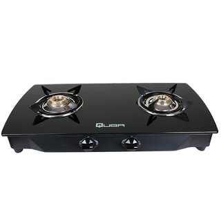 Quba POLO II SS BLACK AUTO ARC 2 Burner Auto Gas Stove
