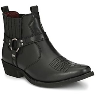 Delize Black Cowboy Ankle Boots