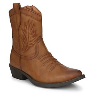 Delize tan Cowboy High Boots