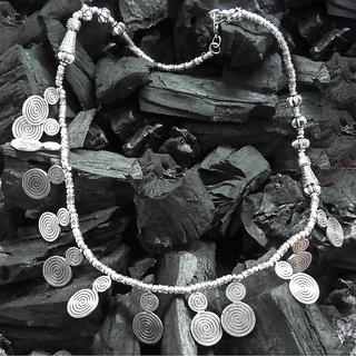 JewelMaze Silver Plated Statement Necklace Set-FAC0712
